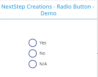 Radio button layout