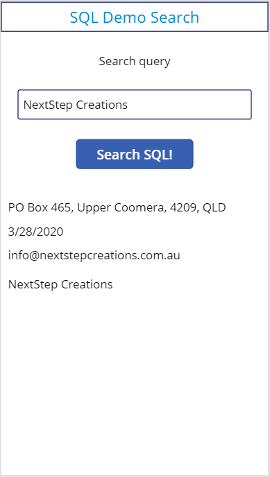 Running SQL Queries in PowerApps 16