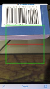 Barcode camera scanner